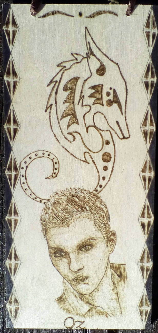 Character from my novel with pyrograp - Oz by TamaraFaith