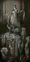 Glass And Metal Still Life by DustinPanzino
