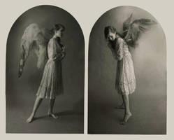 Angel Diptych by DustinPanzino