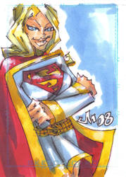 Personal Sketch Card SUPERGIRL by jasinmartin