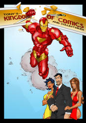 FCBD Iron Man print collab by jasinmartin