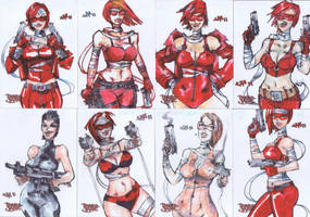 SKETCH CARDS Painkiller Jane by jasinmartin