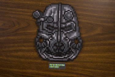 Fuse Bead Brotherhood of Steel Helmet by PkmnMasterTash