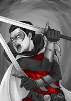 Damian Wayne by longjunt