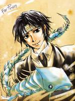 HxH Fanart - Kuroro and his Pet by BonBonPich