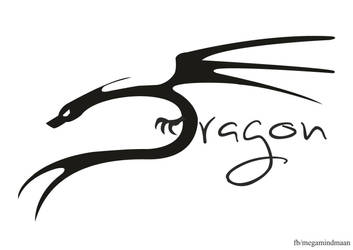 Lettering Art ~Dragon~ by megamindmaan