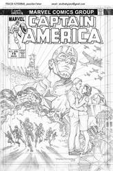Captain America: Man Out of Time cover art by skullbabyland