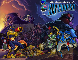 Cover art for The Adventures of Sly Cooper #2 by skullbabyland