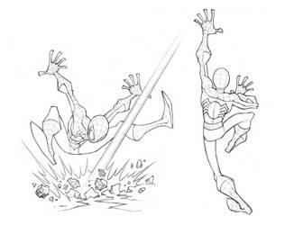 Spidey Poses 2 by skullbabyland