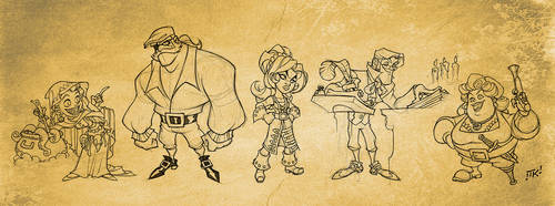 Pirate character concepts by skullbabyland