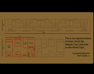 World Train Sleeper Car Floor Plan by Ballzy247