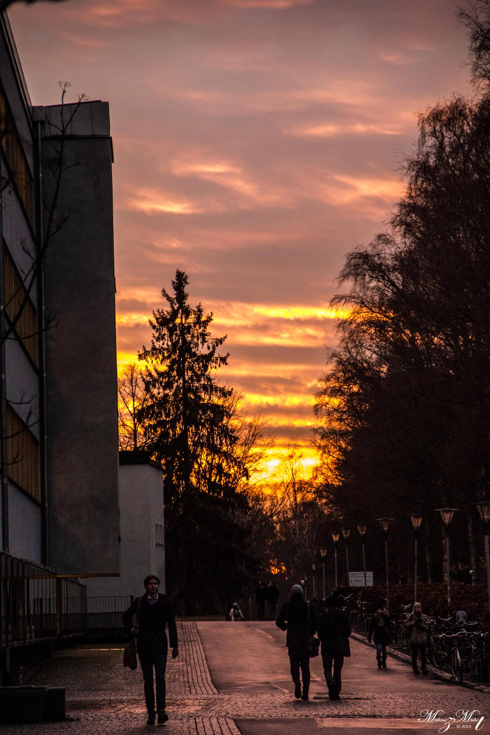 Sunset from Uppsala University area by iMehnaz