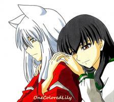 InuYasha and Kagome (2) by OneColoredLily