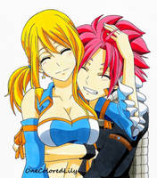 Natsu and Lucy (4) by OneColoredLily