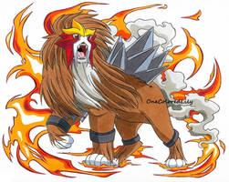 The Legendary Pokemon, Entei by OneColoredLily