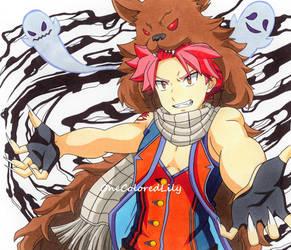 Natsu Dragneel (14) by OneColoredLily