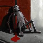 Robot is dead by Waldemar-Kazak