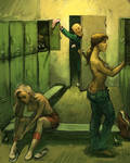 locker room by Waldemar-Kazak