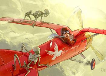 Flyer and skeletons by Waldemar-Kazak