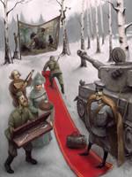 Hunting in Zavidovo by Waldemar-Kazak