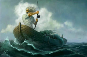 Oldmen and sea by Waldemar-Kazak