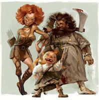 Funny family by Waldemar-Kazak