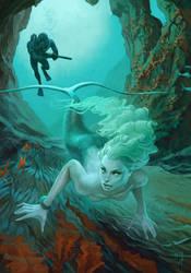 Hunting on mermaid by Waldemar-Kazak