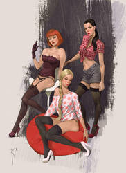 not smile girls by Waldemar-Kazak