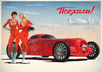 Soviet racers by Waldemar-Kazak