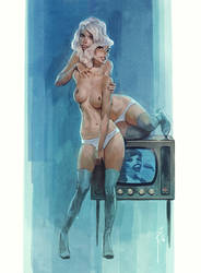 Double television by Waldemar-Kazak