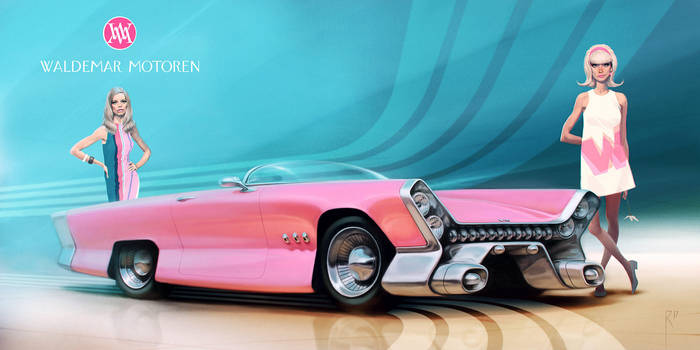 Pink car II by Waldemar-Kazak