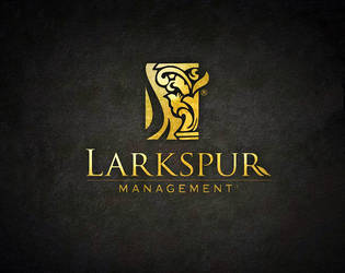 Larkspur Logo by v5design