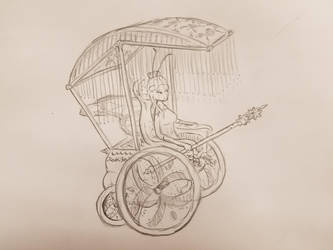 Legless Butterfly Wheelchair Queen by Narotiza