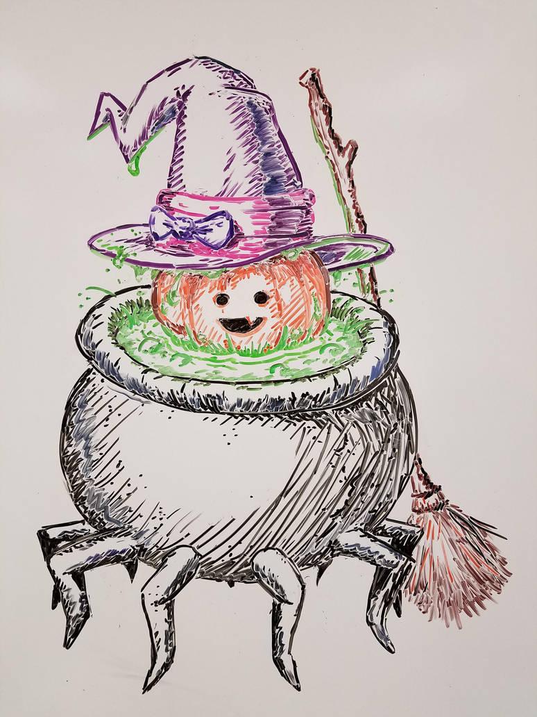 Witch Pumpkin by Narotiza