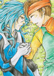 Aceo - Friendship by cross-works