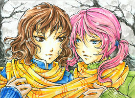 Aceo - Winter Day by cross-works