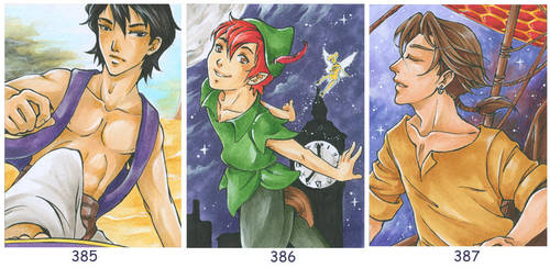 Aceo - Disney by cross-works