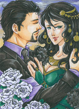 Aceo - You never could resist a pretty face by cross-works