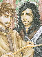 Aceo - Brothers in Arms by cross-works