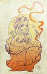Celese in Orange by samycat
