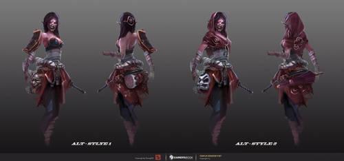 Templar Assassin Concept#2 - Lunar Oni by TrungTH