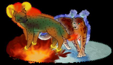 .:Fire and Ice:. by Kindlekitsune
