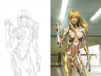 Color: Witchblade 113 Cover B by SunnyGho