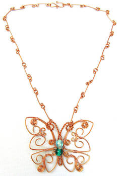 Butterfly Necklace by Emarah