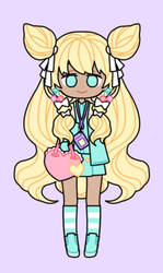 (Pastel Girl) Adopt #1 [CLOSED] by ChaosCrossing