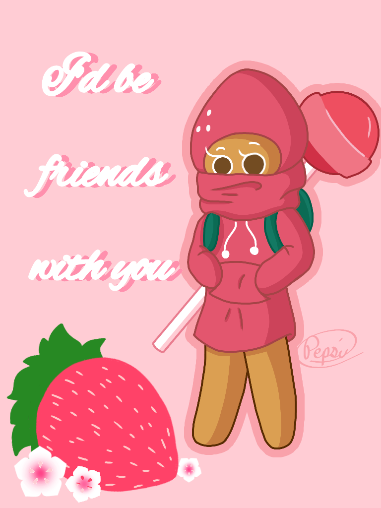 Strawberry Cookie Valentine's Day Card by Pepsi-Meth