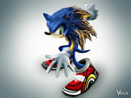 the real sonic the hedgehog by v-trayal