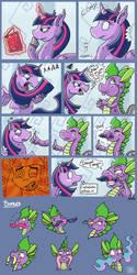 Dragon Magic Comic by DinoDraketakethecake