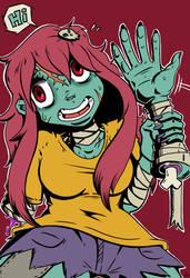 Zombie gal by DinoDraketakethecake