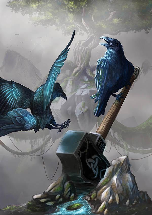 Odins ravens by I-A-Grafix